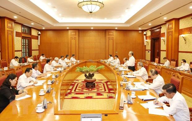 Bộ Chính trị cho ý kiến về phương án nhân sự, văn kiện của 12 Đảng bộ - Ảnh 1.