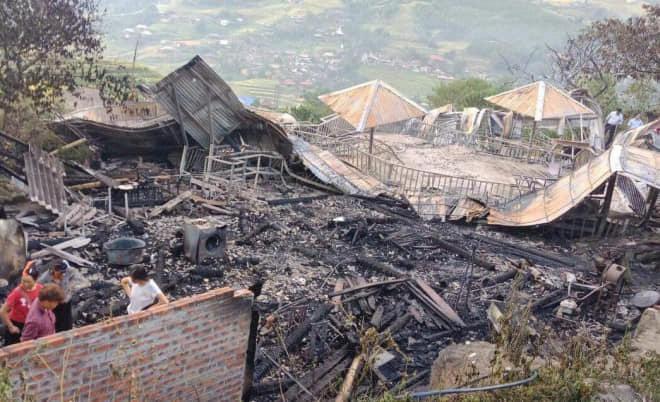 Cháy nhà ở Sa Pa, 1 người chết - Ảnh 1.