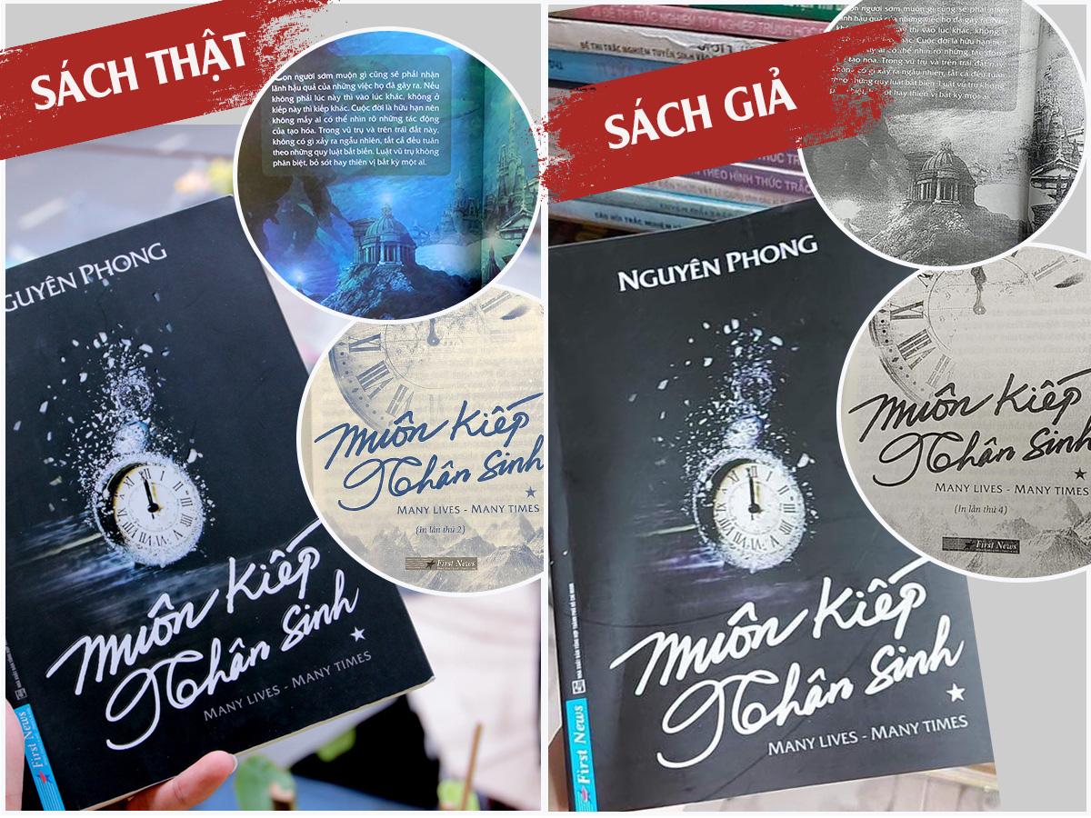 """Cuốn sách best-seller """"Muôn kiếp nhân sinh"""" bị làm giả, in lậu hàng loạt tại Hà Nội - Ảnh 2."""
