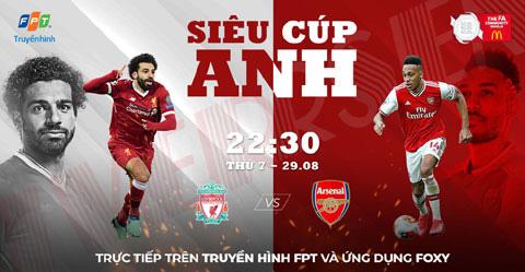 Xem trực tiếp Siêu cúp Anh giữa Arsenal và Liverpool trên kênh nào? - Ảnh 1.
