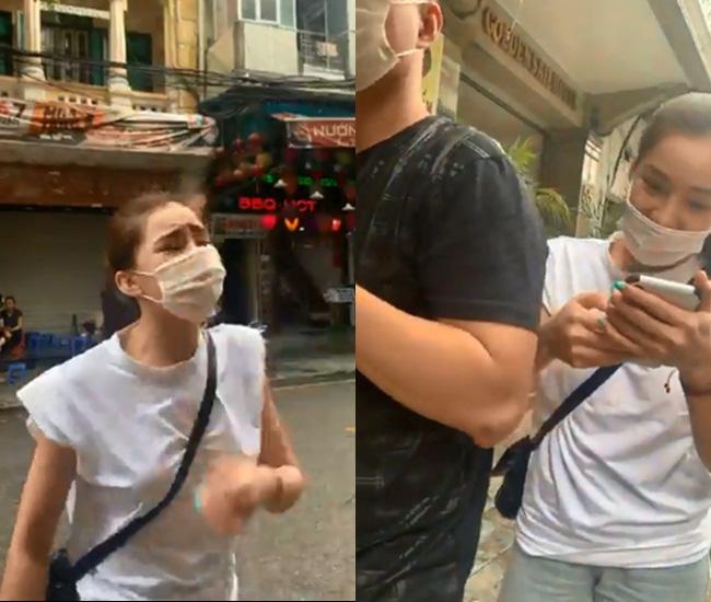 """Nữ diễn viên """"Người phán xử"""" ẩu đả cùng anti-fan trên đường phố Hà Nội - Ảnh 1."""