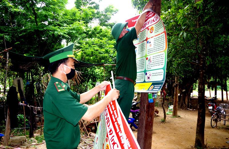 """Quảng Bình: Chuyện """"ăn lá ngủ rừng"""" chống Covid-19 trên tuyến biên giới Việt-Lào - Ảnh 6."""