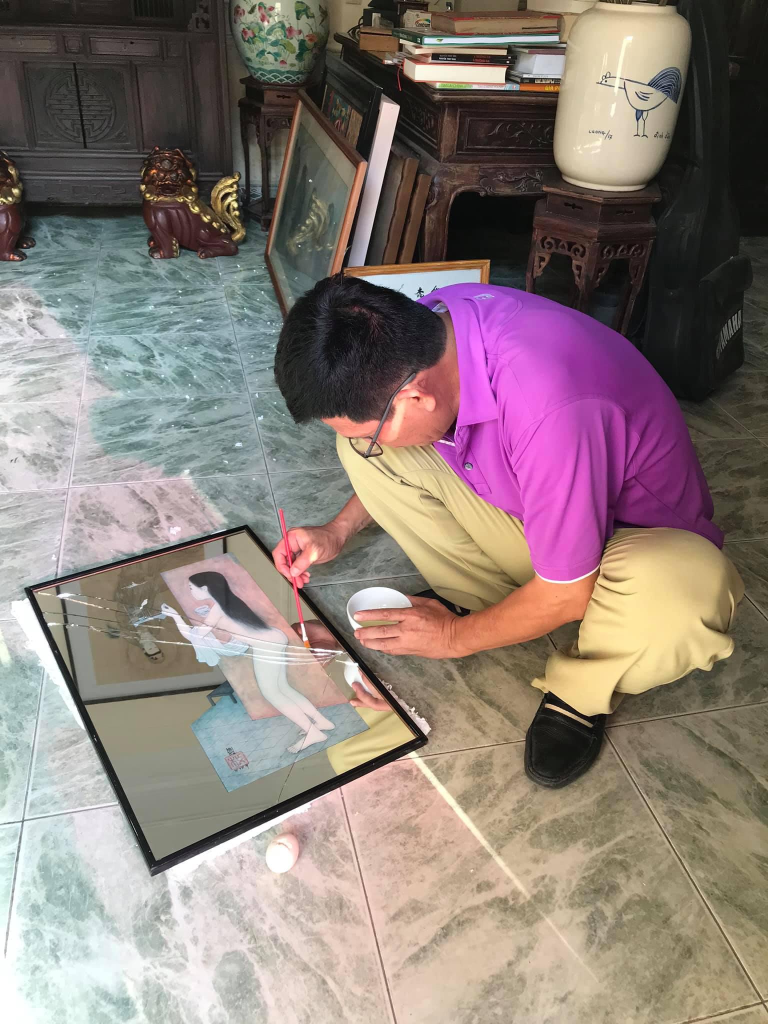 """Tuấn """"cá sấu"""" đau xót vì vỡ độc bản trên gương của họa sĩ Mai Trung Thứ  - Ảnh 4."""