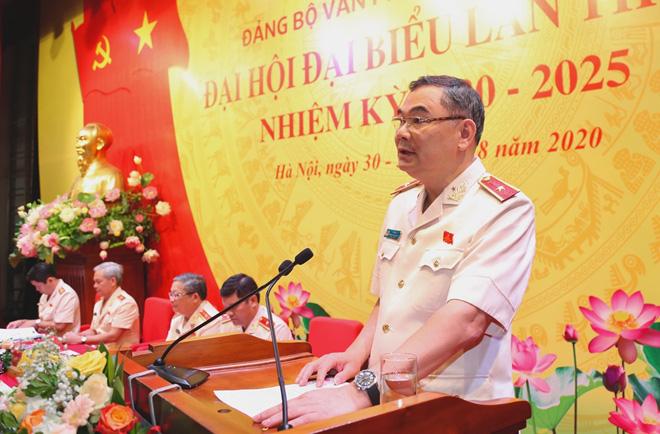 Thiếu tướng Tô Ân Xô được Đại hội bầu trực tiếp chức vụ Đảng của Văn phòng Bộ Công an - Ảnh 1.