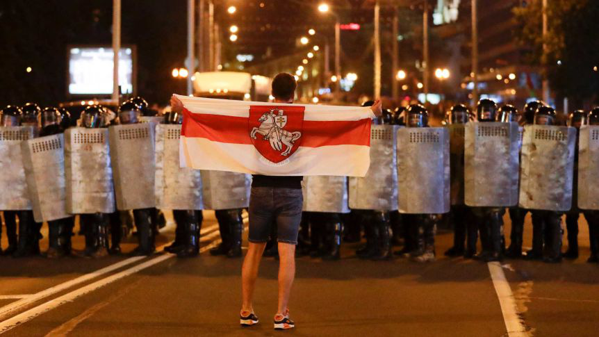 Quân đội Belarus phát hiện bí mật lớn của người biểu tình - Ảnh 1.
