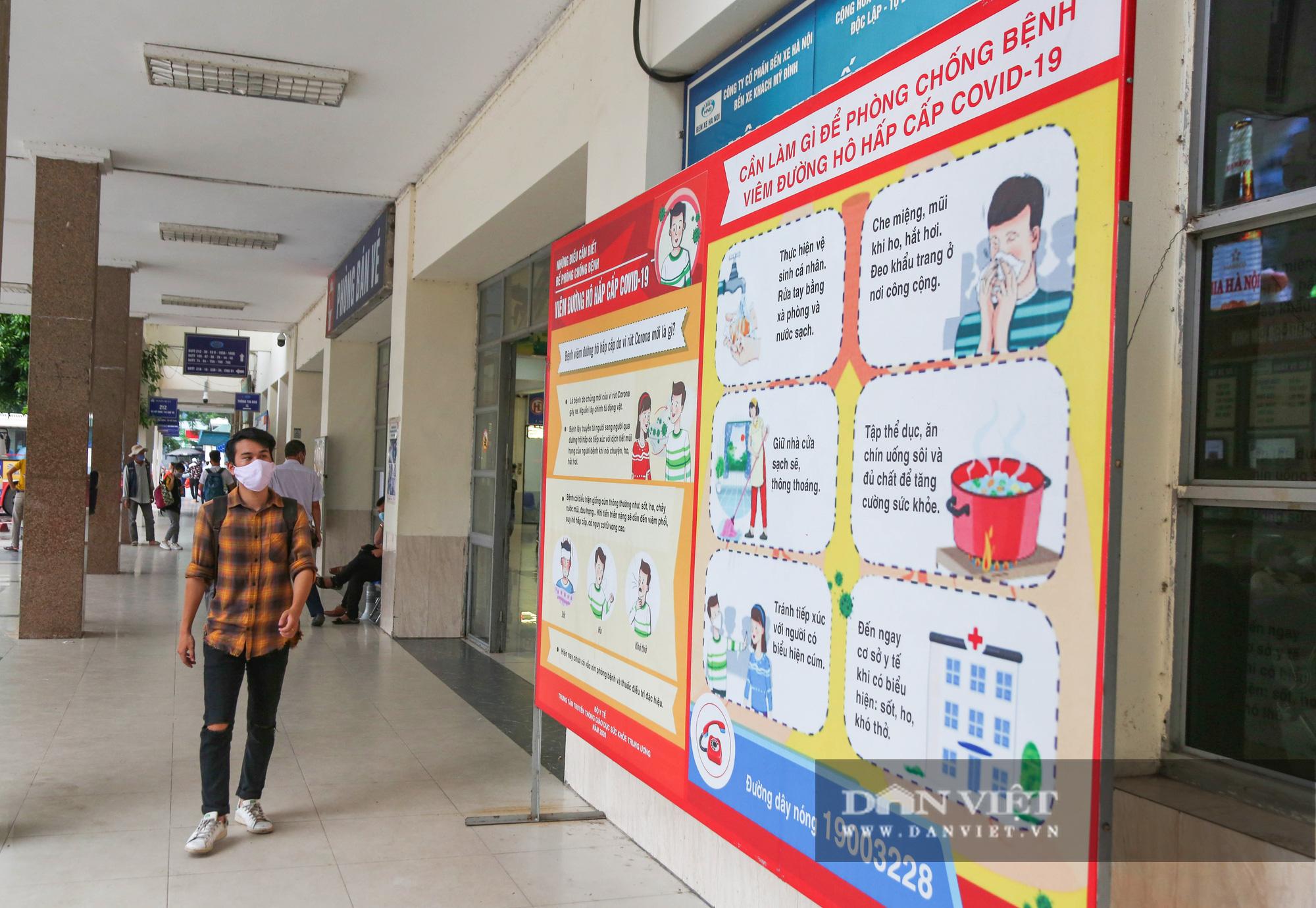 Các bến xe tại Hà Nội dùng biện pháp gì để phòng chống dịch Covid-19   - Ảnh 3.
