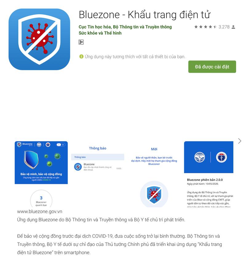 Ứng dụng Bluezone đã vượt mốc 4 triệu lượt tải về - Ảnh 1.