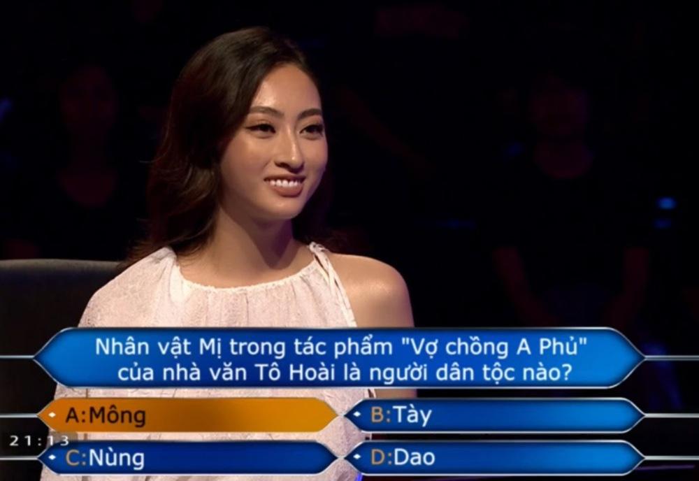 """Clip Hoa hậu Lương Thùy Linh trả lời đúng 7 câu hỏi liên tiếp """"Ai là triệu phú"""", fan ngưỡng mộ - Ảnh 5."""