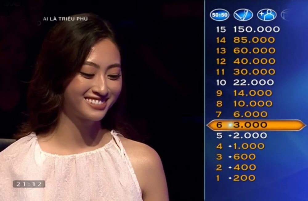 """Clip Hoa hậu Lương Thùy Linh trả lời đúng 7 câu hỏi liên tiếp """"Ai là triệu phú"""", fan ngưỡng mộ - Ảnh 4."""