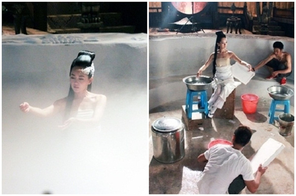 """Cảnh mỹ nhân """"tắm tiên"""" trong phim cổ trang Trung Quốc lộ sạn """"siêu to khổng lồ"""", lừa khán giả  - Ảnh 9."""