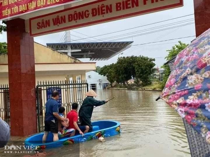 """Clip, ảnh: Thành phố Điện Biên Phủ """"chìm"""" trong biển nước - Ảnh 8."""