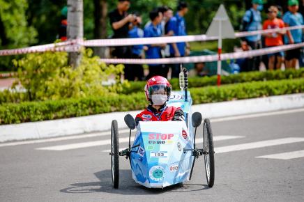 Xe tự chế EAUT giật Giải Thiết kế Cuộc thi Lái xe Sinh thái – Tiết kiệm nhiên liệu Honda 2020 - Ảnh 3.