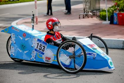 Xe tự chế EAUT giật Giải Thiết kế Cuộc thi Lái xe Sinh thái – Tiết kiệm nhiên liệu Honda 2020 - Ảnh 2.