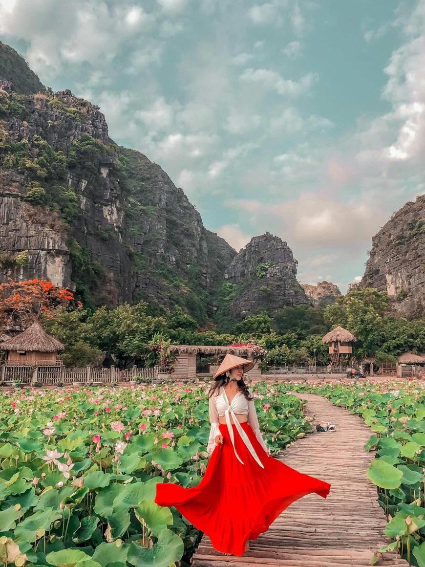 """Lạ Ninh Bình: Đang giữa mùa Thu, đầm sen """"kỳ lạ nhất Việt Nam"""" bỗng dưng nở rộ sắc màu - Ảnh 8."""
