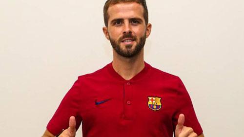 Pjanic phải tập riêng ở Barcelona.