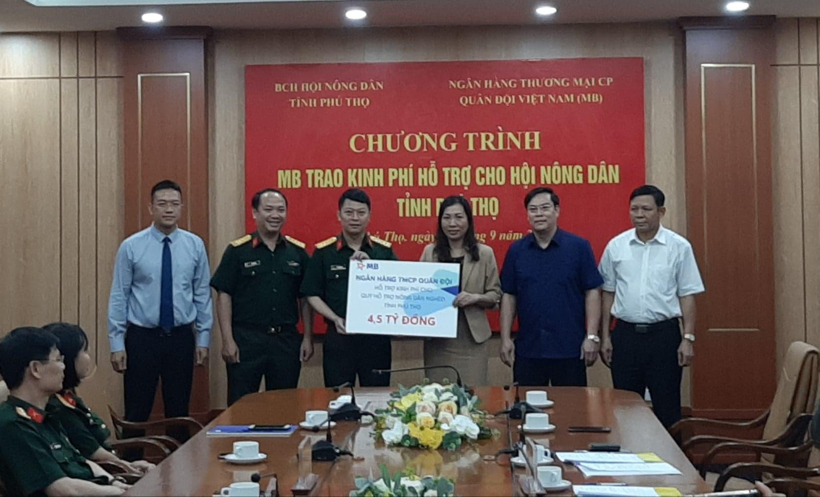 Ngân hàng TPCP Quân độ hỗ trợ 4,5 tỷ đồng cho Quỹ hỗ trợ nông dân nghèo tỉnh Phú Thọ - Ảnh 1.