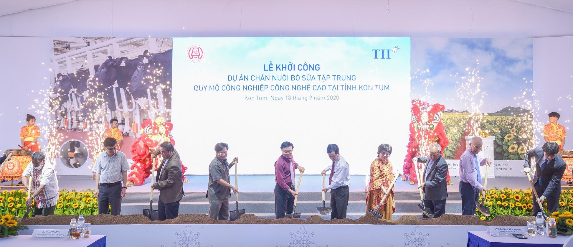 Kon Tum: Khởi công dự án nuôi bò sữa công nghệ cao quy mô lớn nhất Tây Nguyên - Ảnh 1.