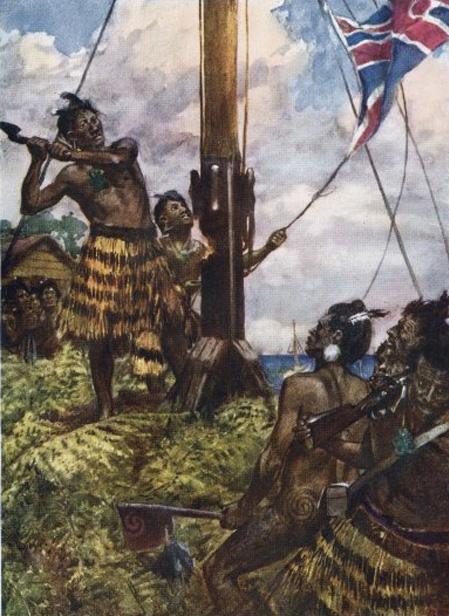 Cuộc chiến đẫm máu vì cái cột cờ giữa lính Anh và thổ dân Maori - Ảnh 2.