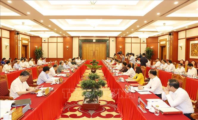 Tổng Bí thư, Chủ tịch nước chủ trì buổi làm việc với Ban Thường vụ Thành ủy Hà Nội - Ảnh 4.
