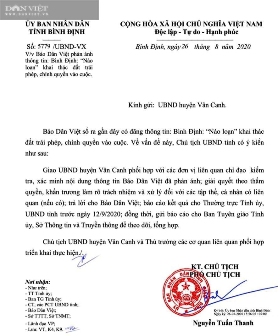 """Vụ """"Náo loạn"""" khai thác đất trái phép: Phó Chủ tịch tỉnh Bình Định """"truy"""" trách nhiệm! - Ảnh 1."""