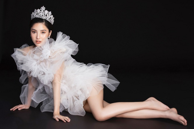 Nguyễn Mỹ Huyền: Từ hoa khôi bóng chuyền đến Hoa hậu quốc tế - Ảnh 9.