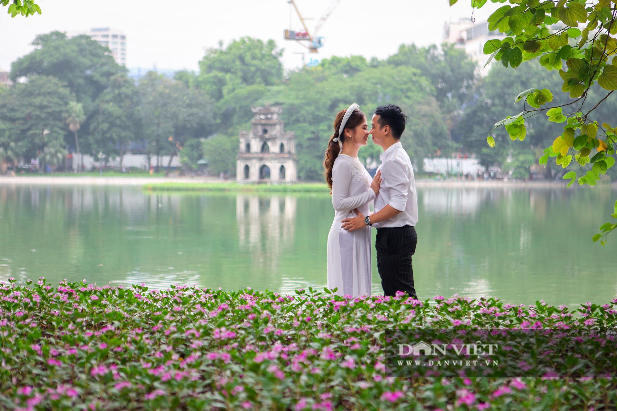Chiêm ngưỡng vườn hoa mới đẹp ngỡ ngàng bên bờ hồ Hoàn Kiếm  - Ảnh 7.