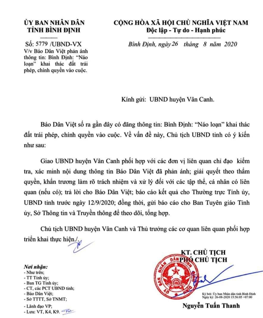 """Vụ """"Náo loạn"""" khai thác đất trái phép: Huyện báo cáo gì với Thường trực Tỉnh ủy Bình Định(?)  - Ảnh 3."""