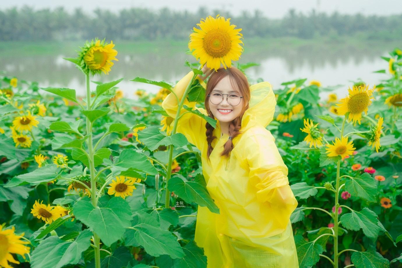 Đồi hoa mặt trời Ecopark khoe sắc đón thu sang - Ảnh 13.