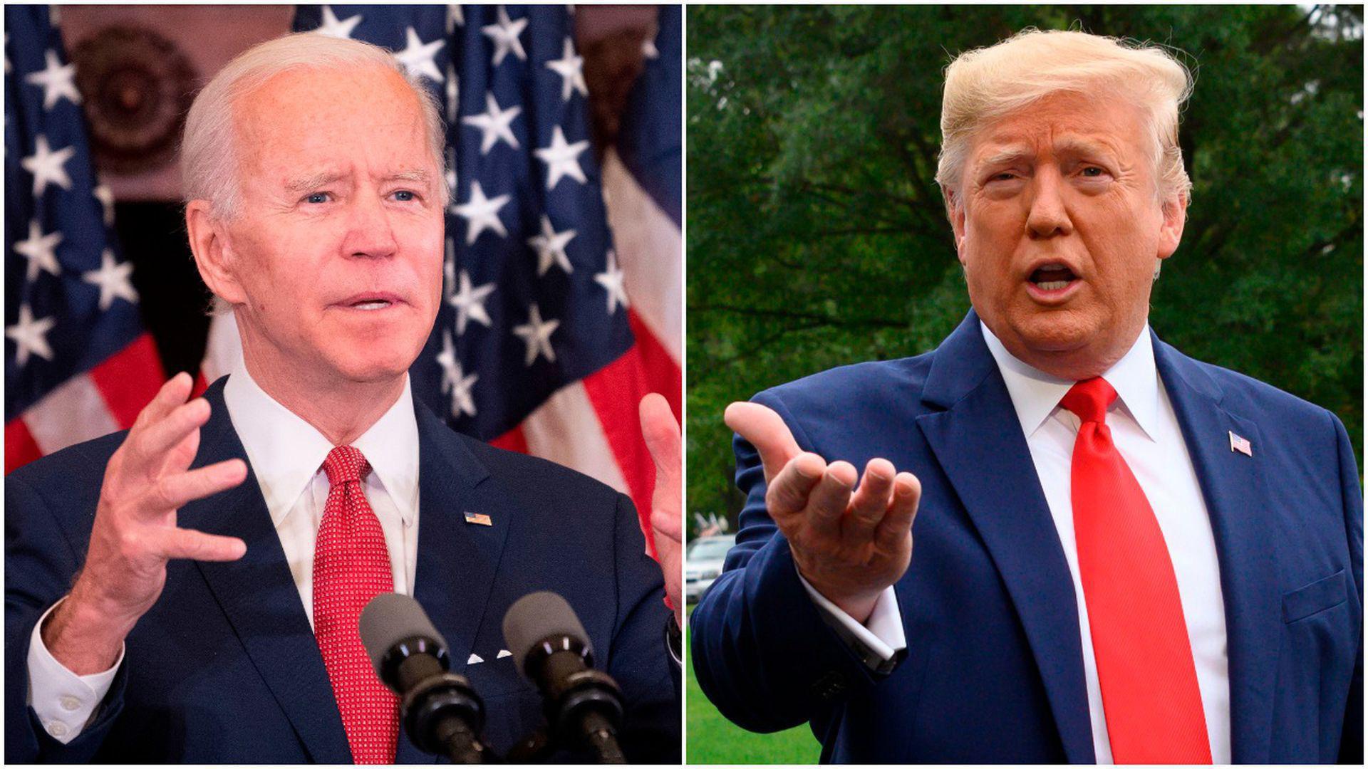 Bầu cử Mỹ: Trump, Biden kịch chiến ở các bang chiến trường   - Ảnh 1.