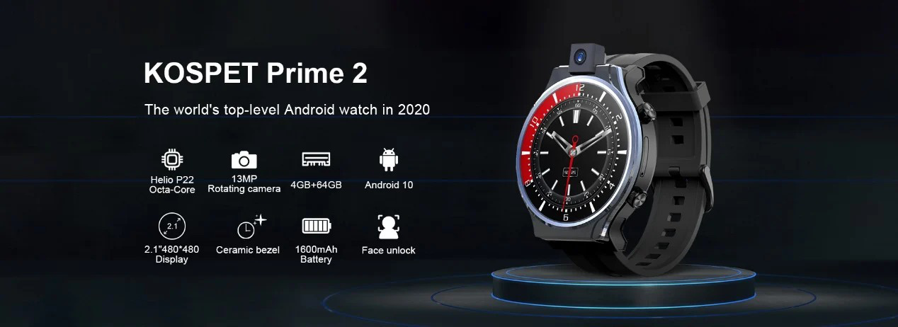 Đồng hồ thông minh Kospet Prime 2 với camera xoay và tính năng mở khóa bằng khuôn mặt  - Ảnh 1.