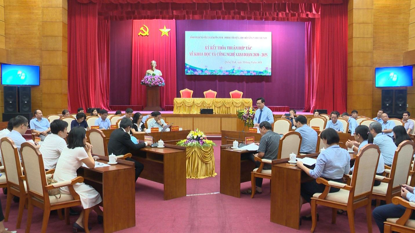 Sở Khoa học và Công nghệ Quảng Ninh, Học viện Nông nghiệp Việt Nam, Đại học Xây dựng ký thỏa thuận hợp tác - Ảnh 1.