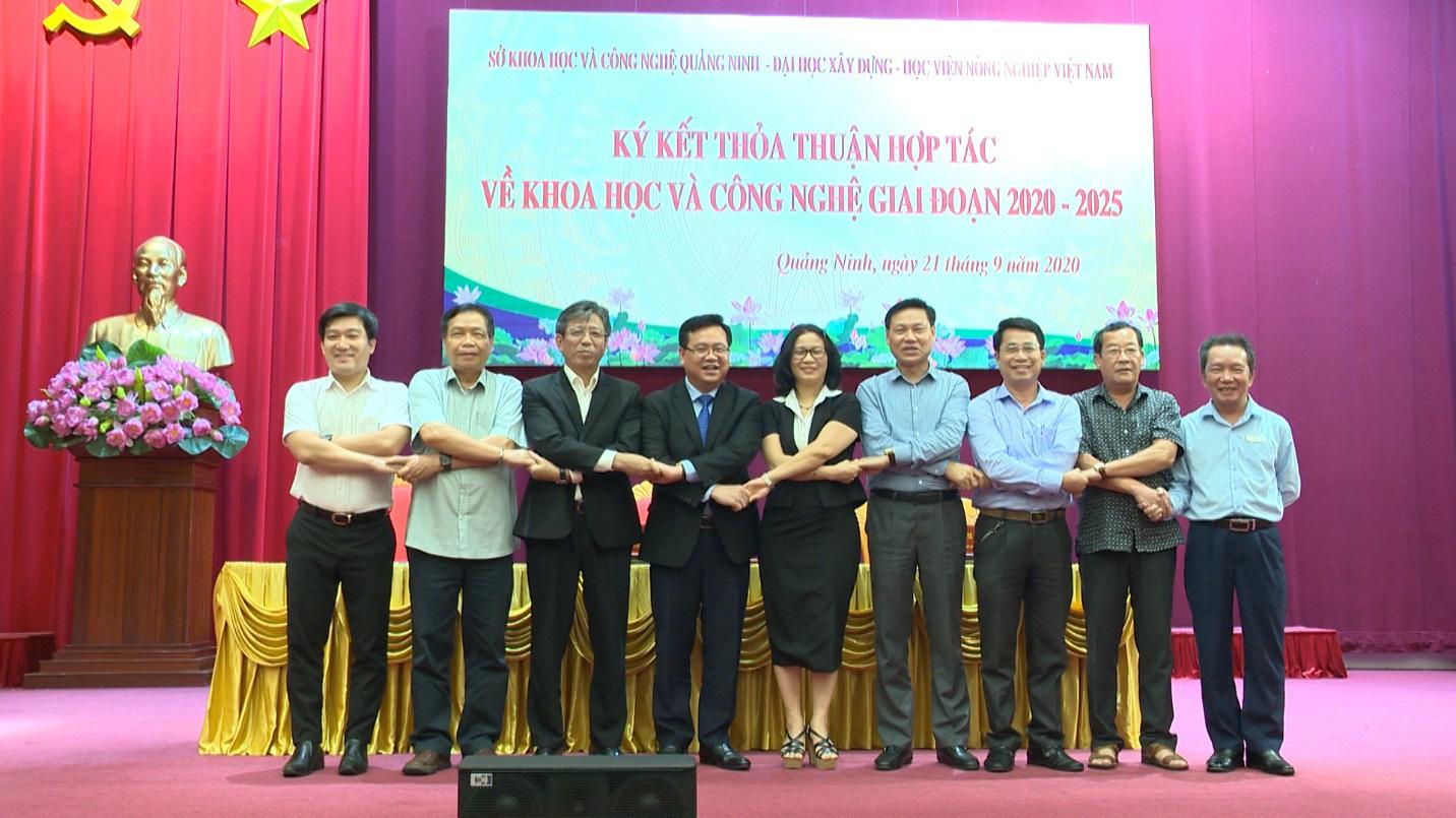 Sở Khoa học và Công nghệ Quảng Ninh, Học viện Nông nghiệp Việt Nam, Đại học Xây dựng ký thỏa thuận hợp tác - Ảnh 2.