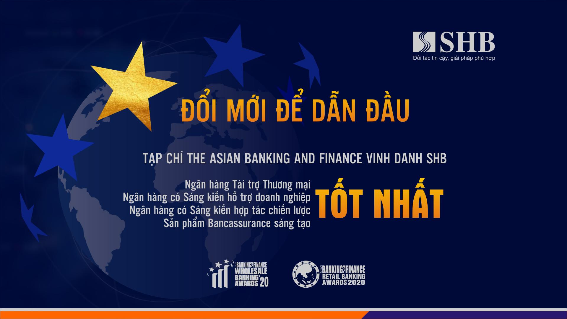The Asian Banking and Finance vinh danh SHB 4 giải thưởng quốc tế danh giá - Ảnh 1.