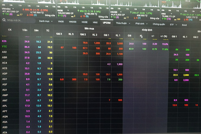 Hơn 100 cổ phiếu trên sàn không có người mua bán - Ảnh 1.