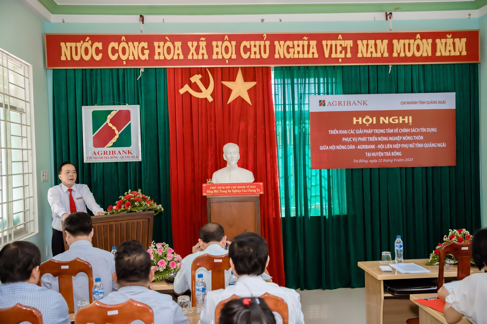 Quảng Ngãi: Hội nghị các giải pháp trọng tâm về chính sách phối hợp giữa Hội nông dân – Agribank – Hội LHPN  - Ảnh 1.