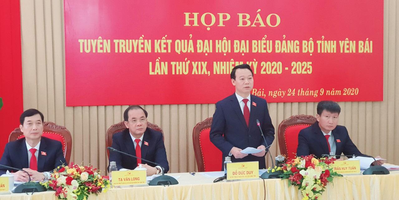 Yên Bái họp báo tuyên truyền kết quả đại hội đại biểu Đảng bộ tỉnh lần thứ XIX - Ảnh 1.