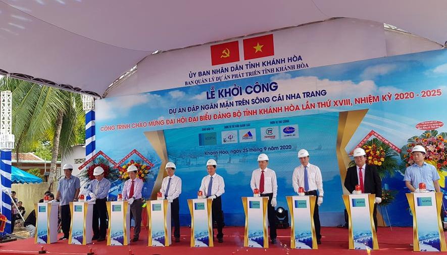 Khánh Hòa: Khởi công xây dựng đập ngăn mặn, với tổng số vốn trên 759 tỷ đồng - Ảnh 1.