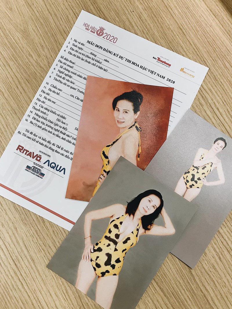 """Thí sinh U60 gây """"sốt"""" xuất hiện tại Sơ khảo Hoa hậu Việt Nam 2020, khác xa ảnh hiếm hoi quyến rũ? - Ảnh 3."""