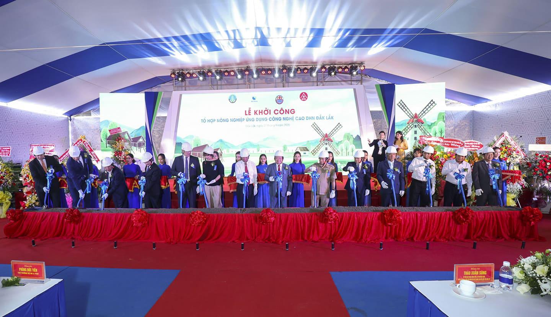 Chính thức khởi công dự án nông nghiệp công nghệ cao DHN Đắk Lắk, rộng 200ha, quy mô 1.500 tỷ - Ảnh 1.