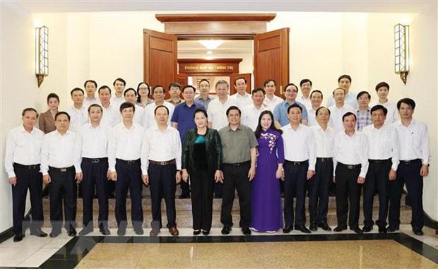 Bộ Chính trị làm việc về chuẩn bị đại hội các đảng bộ trực thuộc Trung ương - Ảnh 2.