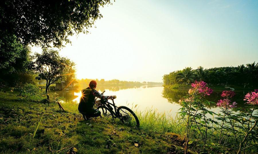 Ngắm bình minh đẹp như tranh vẽ tại khu đô thị xanh Ecopark - Ảnh 11.