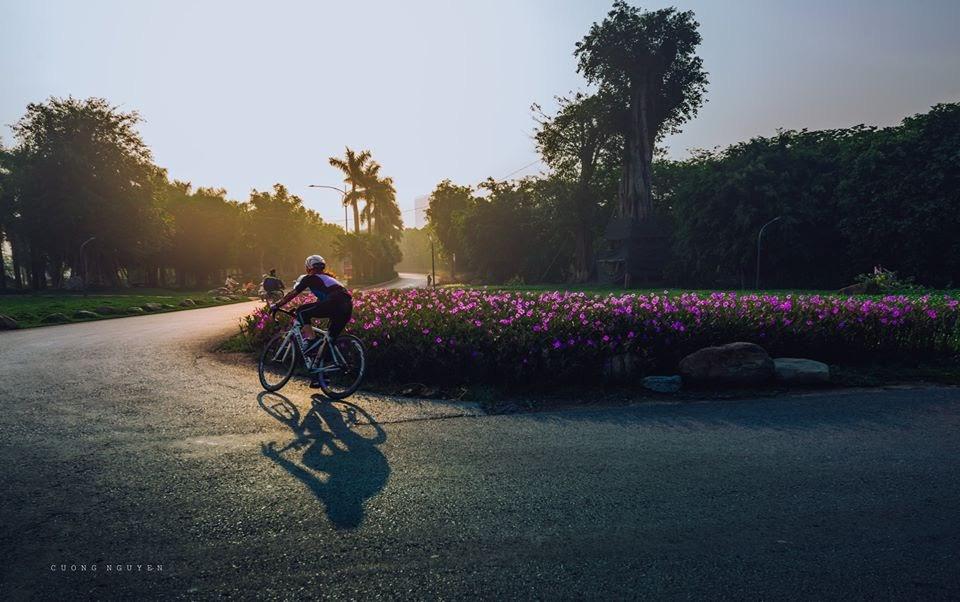 Ngắm bình minh đẹp như tranh vẽ tại khu đô thị xanh Ecopark - Ảnh 6.
