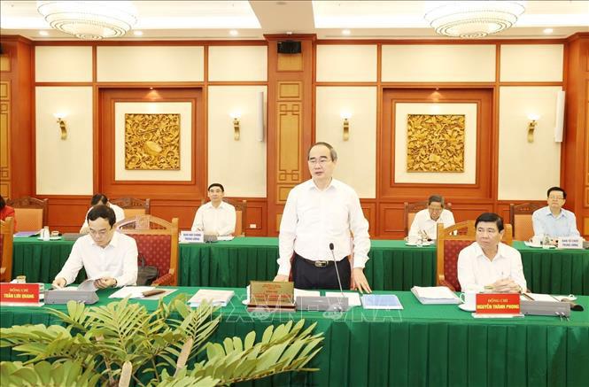 Tổng Bí thư, Chủ tịch nước chủ trì buổi làm việc với Ban Thường vụ Thành ủy TP Hồ Chí Minh - Ảnh 4.