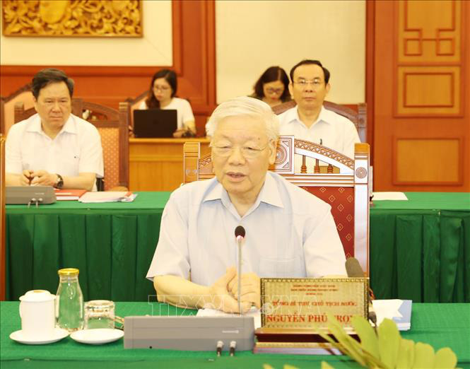 Tổng Bí thư, Chủ tịch nước chủ trì buổi làm việc với Ban Thường vụ Thành ủy TP Hồ Chí Minh - Ảnh 2.