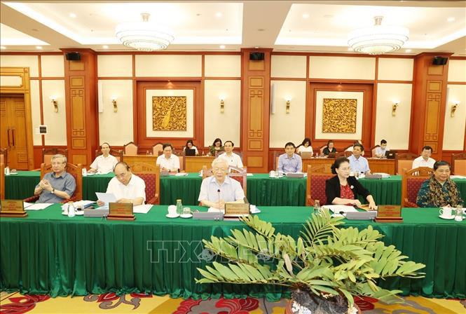 Tổng Bí thư, Chủ tịch nước chủ trì buổi làm việc với Ban Thường vụ Thành ủy TP Hồ Chí Minh - Ảnh 3.