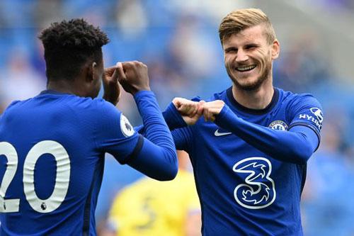 Timo Werner ghi bàn đầu tiên cho Chelsea.