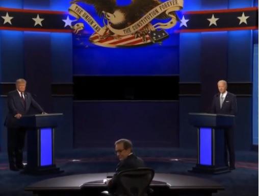 Bầu cử Mỹ: Trump-Biden đang tranh luận trực tiếp đầy gay cấn - Ảnh 2.