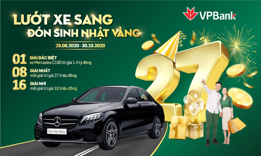 Trúng ngay ô tô Mercedes khi tham gia đại tiệc sinh nhật 27 tuổi của VPBank - Ảnh 1.