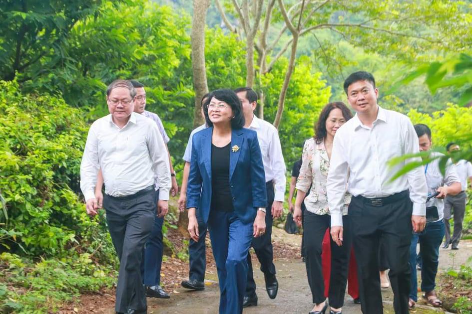 Phó Chủ tịch nước thăm vườn na mẫu huyện Chi Lăng, Lạng Sơn - Ảnh 1.