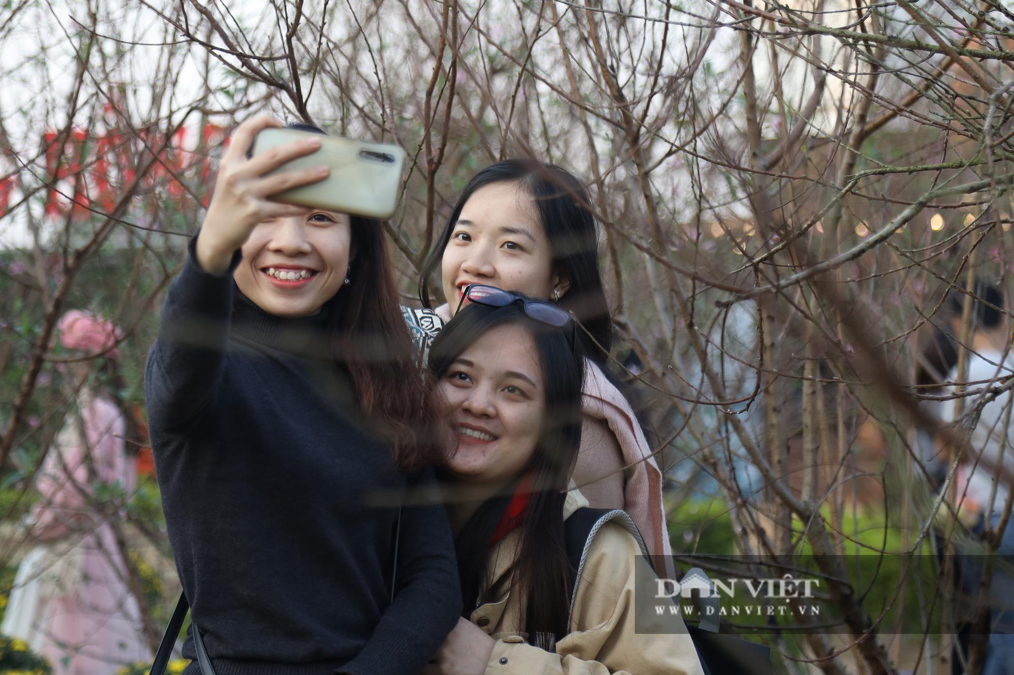 Người Hà Nội nô nức chụp ảnh check-in hoa đào từ Tết Dương lịch - Ảnh 3.